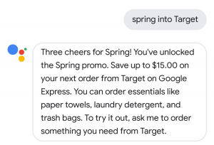 Get $15 in Target credit via Google Express just by saying three words to Assistant