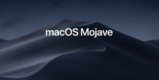 MacOS Mojave Announced