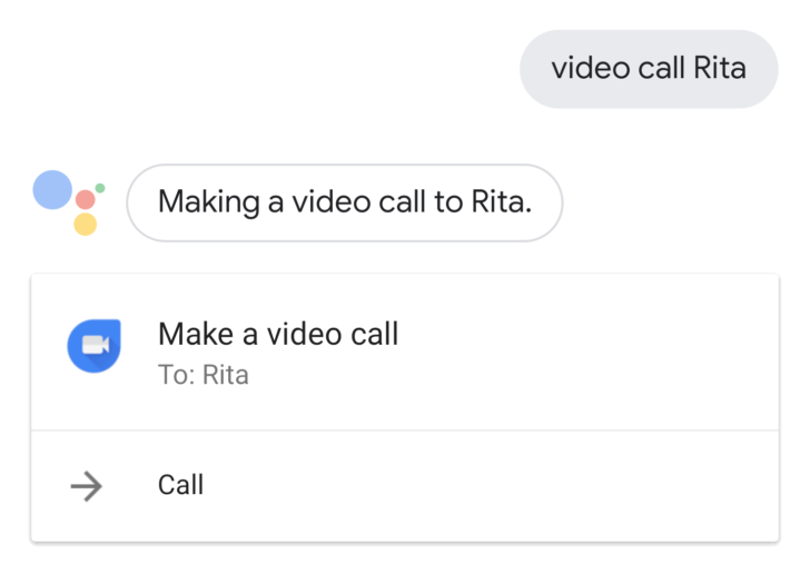 Video call people on Duo through Google Assistant