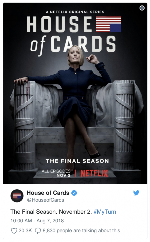 House of Cards Returns November 2nd