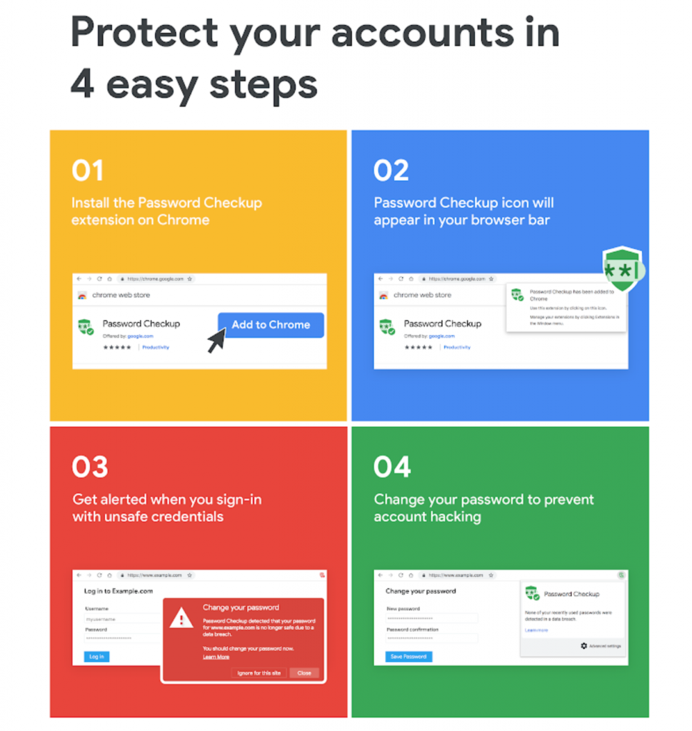 Google rolls out Password Checkup and Cross Account Protection